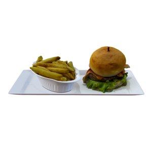 burger meat food 3D model