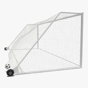 soccer ball flies goal 3D model