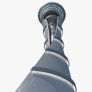 airport air traffic control tower 3D