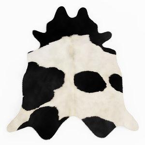 3D wool brazilian black white