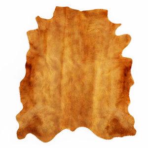 wool brown cowhide rug 3D model