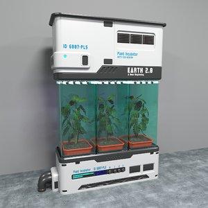3D plant incubator model