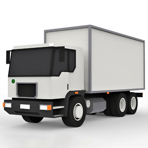 cartoon cargo truck 3D