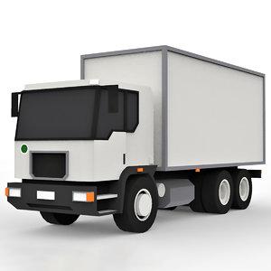 cartoon cargo truck 3D