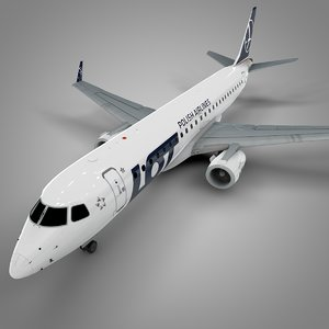 lot embraer190 l631 3D model
