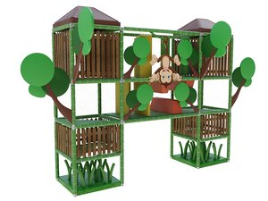 indoor playland jungle 3D model