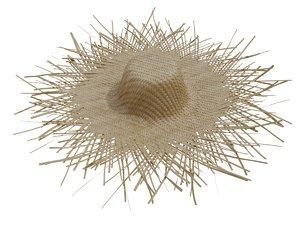 3d model straw hat