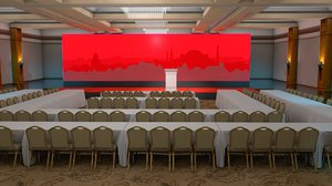 hotel meeting room 3D model