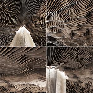 3D parametric hall