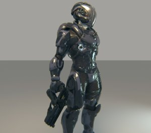 3D character robot soldier