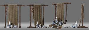3D stand selling porcelain model