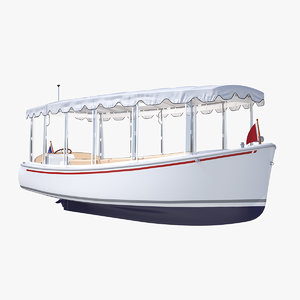 3D pleasure boat soft roof
