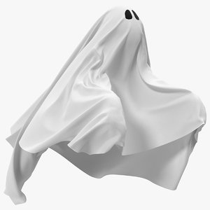 white ghost sheet flying model