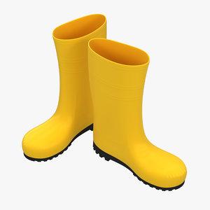 gumboots boots 3D