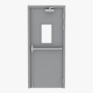 exit door single 3D model
