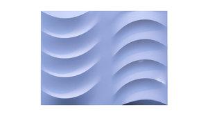3D wall panel ripple style model