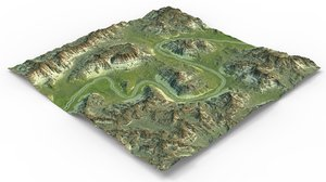 games maps terrain 3D model