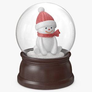 snow globe snowman 3 model