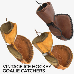 vintage ice hockey goalie 3D model