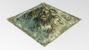 terrain maps 3D model