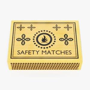 3D model matchbox lights pbr
