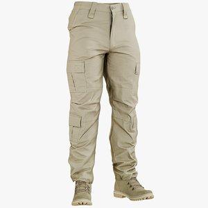 realistic pants desert boots 3D model