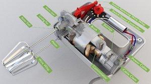 hand mixers 1 3D model