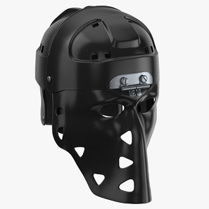 mike liut goalie mask 3D model
