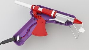 3D model glue gun 1