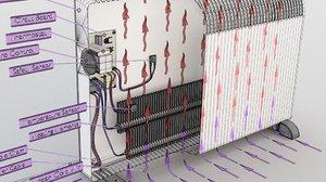 electric heater radiator 3D model