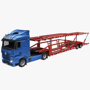 3D truck car transporter