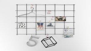 3D wall decoration - metal frame