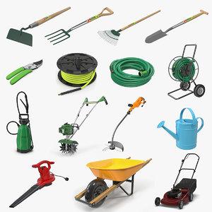 garden tools 4 3D model