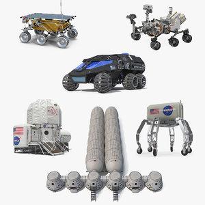 3D mars colony 5 model