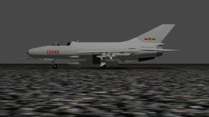 3D chengdu f-7 model