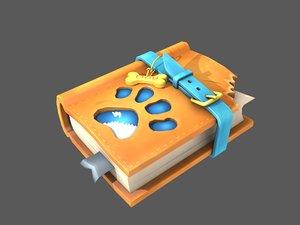 3D stylized dog training book model