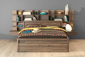 gautier bed 3D model