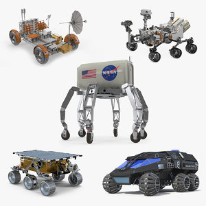 3D rigged space vehicles 3