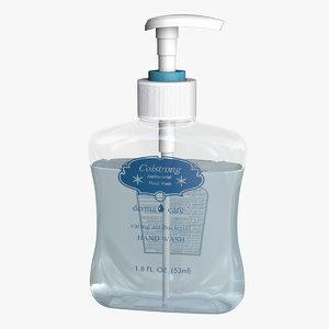 3D hand wash soap model