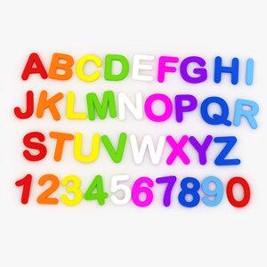 3D alphabet magnets