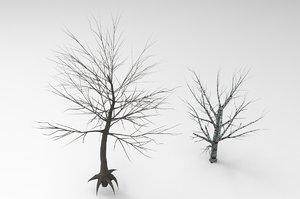 3D birch dead