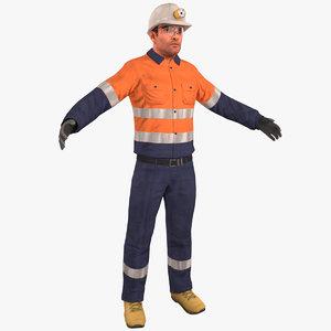 3D miner 2020 4k model