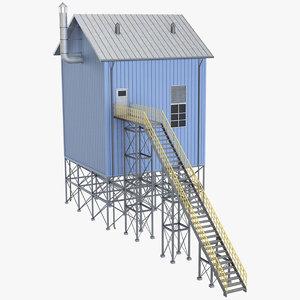 industrial tower 2 3D model