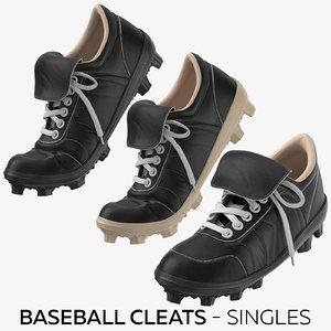 baseball cleats - singles 3D