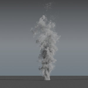 smoke rising 01 - 3D model