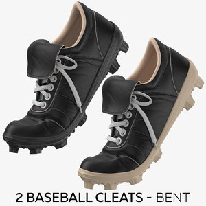 2 baseball cleats - 3D