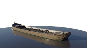 transport barge 3D model