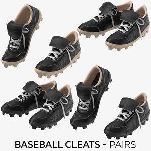 baseball cleats - pairs 3D model