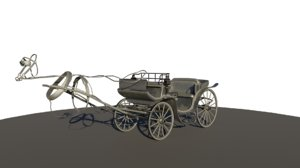 3D model 19th carriage