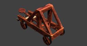3D medieval catapult